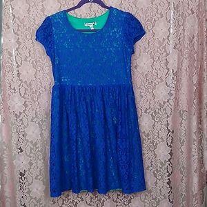 Speechless Royal Blue/Aqua Lace Dress